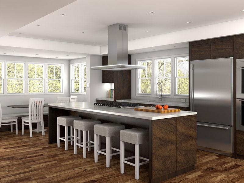 معرفی انواع هود آشپزخانه - هود جزیره